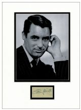Cary Grant Autograph Signed Display
